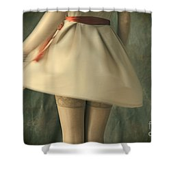 Dress Twirl Shower Curtain by Craig B