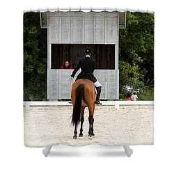 Dressage Salute Shower Curtain