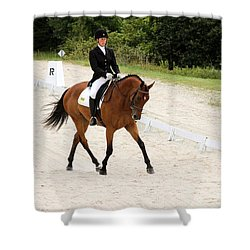 Dressage Test Shower Curtain