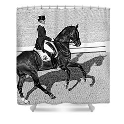 Dressage Une Noir Shower Curtain by Alice Gipson