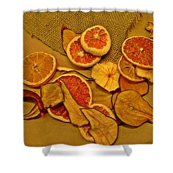 Dried Fruit Shower Curtain