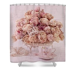 Shower Curtain featuring the photograph Dried Peony Still Life by Sandra Foster