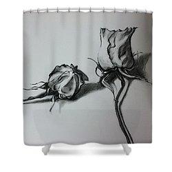 Dried Rose Shower Curtain by Hae Kim