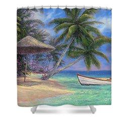 Drift Away Shower Curtain by Chuck Pinson