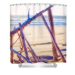 Driftwood 2 Shower Curtain by Adria Trail