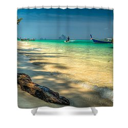 Driftwood Shower Curtain by Adrian Evans