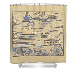 Driftwood Haiga Shower Curtain