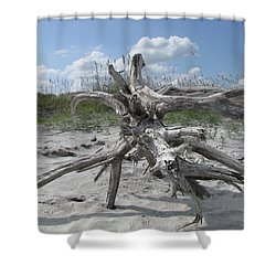 Driftwood Tree Shower Curtain
