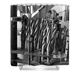 Drill Bits Shower Curtain by Steven Ralser