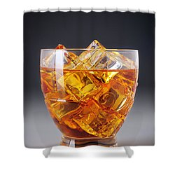 Drink On Ice Shower Curtain by Carlos Caetano