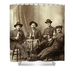 Drinking Buddies Shower Curtain by Jon Neidert