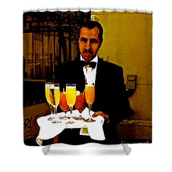 Drinks Anyone? Shower Curtain by Christy Gendalia