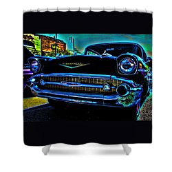 Drive In Special Shower Curtain by Lesa Fine
