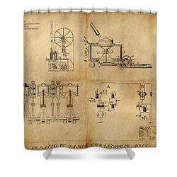 Drive System Assemblies Shower Curtain by James Christopher Hill