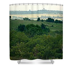 Shower Curtain featuring the photograph Drive The Flint Hills by Brian Duram