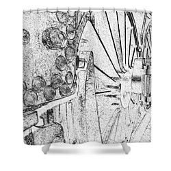Drive Wheels Dm  Shower Curtain