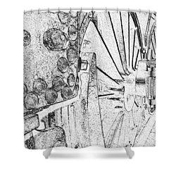 Drive Wheels Dm  Shower Curtain by Daniel Thompson