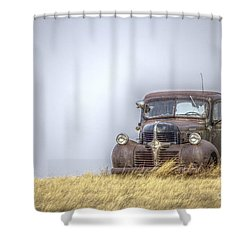 A Rusty Abandoned Truck Near Sturgis South Dakota Shower Curtain