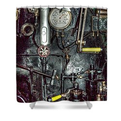 Driving Steam Shower Curtain by MJ Olsen