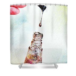 Shower Curtain featuring the photograph Drop by Marianna Mills