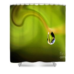 Droplet Ready To Drip Shower Curtain