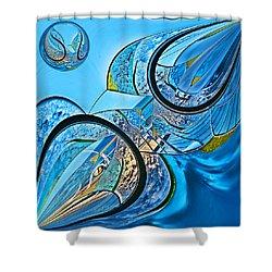 Blue Fantasy Shower Curtain