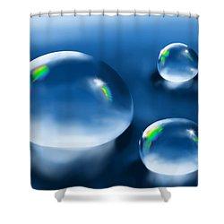 Drops Shower Curtain by Veronica Minozzi