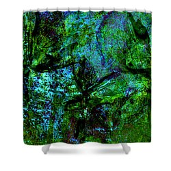 Shower Curtain featuring the mixed media Drowning by Ally  White
