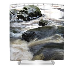 Drowning Images Shower Curtain by Richard Reeve