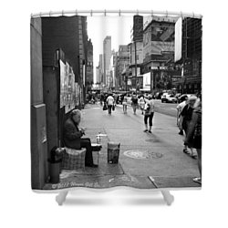 Drum For Change Shower Curtain by Wayne Gill
