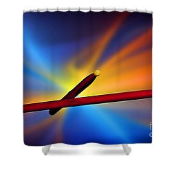 Drum Sticks Photograph For Combo Jazz  Color 3233.02 Shower Curtain