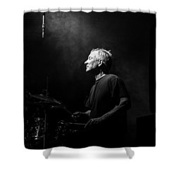 Drummer Portrait Of A Muscian Shower Curtain