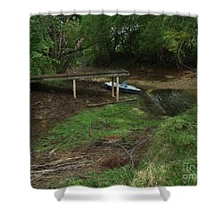 Shower Curtain featuring the photograph Dry Docked by Peter Piatt