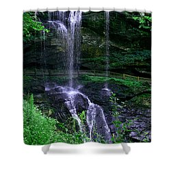 Shower Curtain featuring the photograph Dry Falls by Cathy Harper