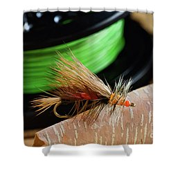 Dry Fly - D003399b Shower Curtain by Daniel Dempster