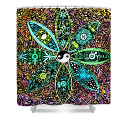Dualing Eyepposites - Inversion Shower Curtain by Dave Migliore