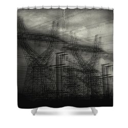Duality Shower Curtain by Taylan Apukovska
