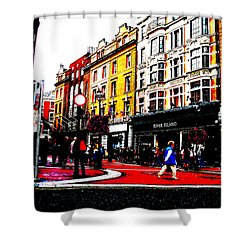 Dublin City Vibe Shower Curtain by Charlie and Norma Brock