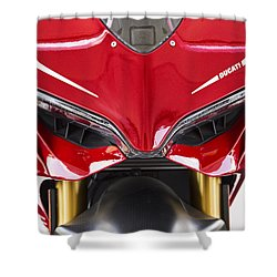 Ducati-unplugged V11 Shower Curtain