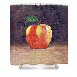 Duchess Apple Two Shower Curtain by Linda Mears