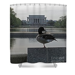 Duck And Lincoln Memorial   #0850 Shower Curtain
