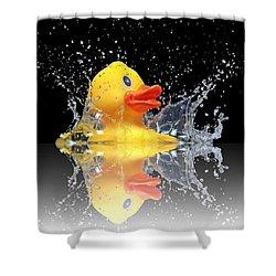 Yellow Duck Shower Curtain