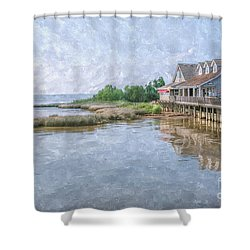 Duck Shops Outer Banks Shower Curtain