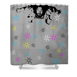 Dude I Want To Believe 3 Shower Curtain by Filippo B
