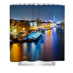 Duisburg Rhine East Bank Dammst Shower Curtain