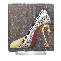 Dulcimer Shower Curtain