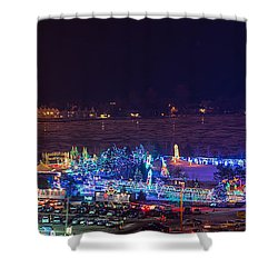 Duluth Christmas Lights Shower Curtain by Paul Freidlund
