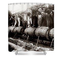 Dump The Beer Shower Curtain by Jon Neidert