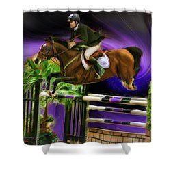 Duncan Mcfarlane On Horse Mr Whoopy Shower Curtain