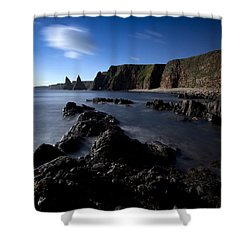 Duncansby Head Shower Curtain by Roddy Atkinson